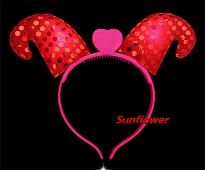 Women Girl Sequin Light Blinking LED Sheep Headband font b Fancy b font font b Dress