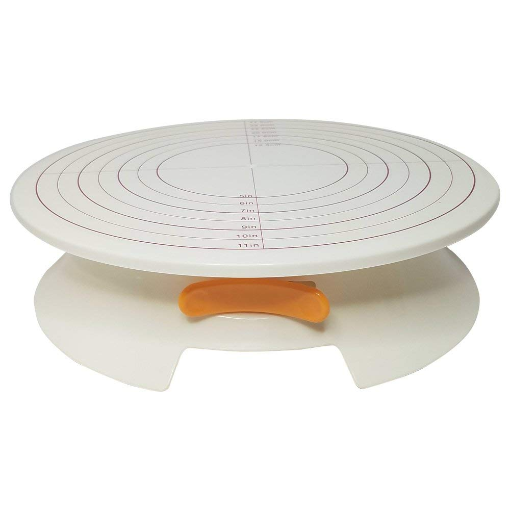"Rotating Turntable Stand - 12 Inches - Perfect for Decorating and Frosting Cakes - Cake Turntable, Revolving Cake Stand - Decorate Your Favorite Cakes - (12""x3.5""x12"")"