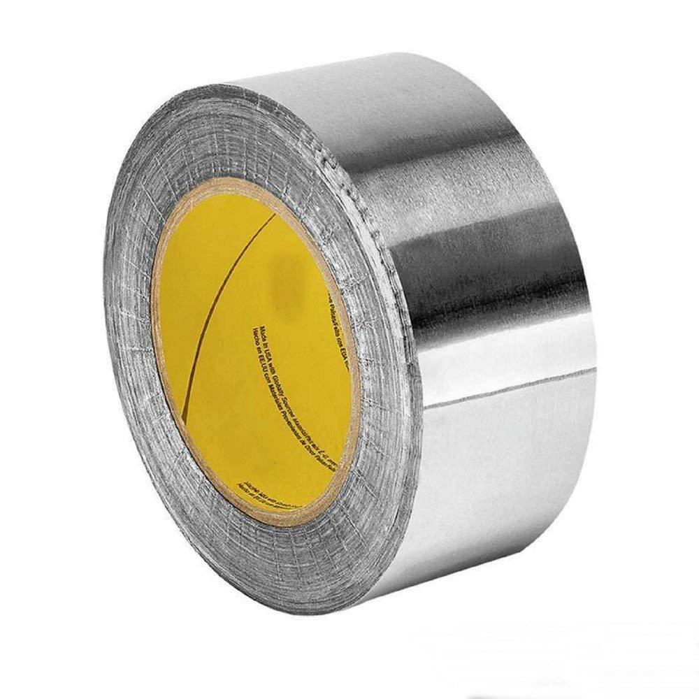 SILVER ALUMINUM FOIL TAPE 2.83 INCH WIDTH x 50 YARD LENGTH 2C120 (1 ROLL)