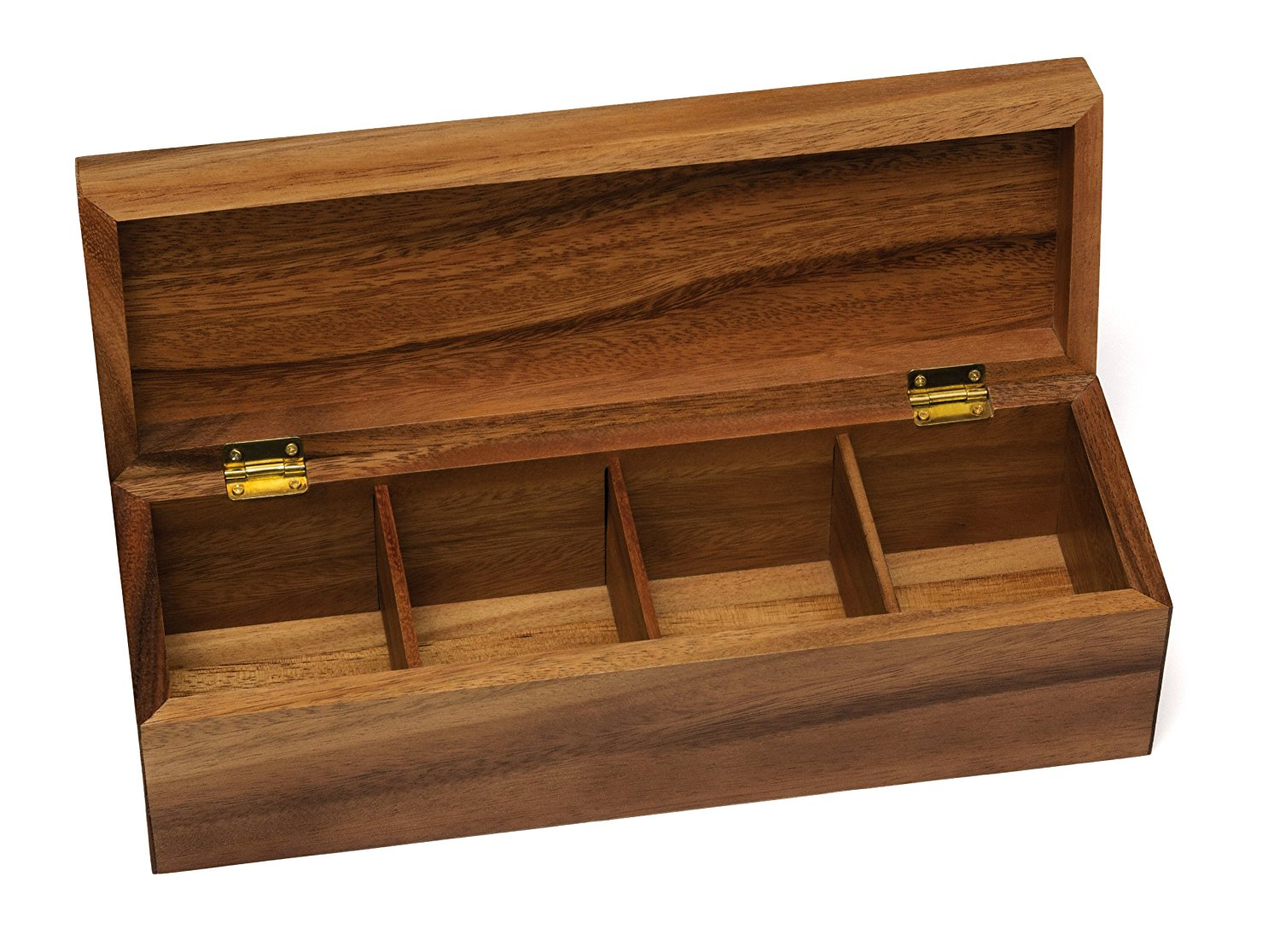 Acacia Wood Coffee Tea Cup Gift Box Coffee Tea Packing Box With 4 Component For High Quality