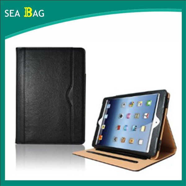 Premium Leather Tan case Stand Wallet Smart Flip Case Cover for Ipad versions 2/3/4 with Full Sleep Auto Wake Compatibility