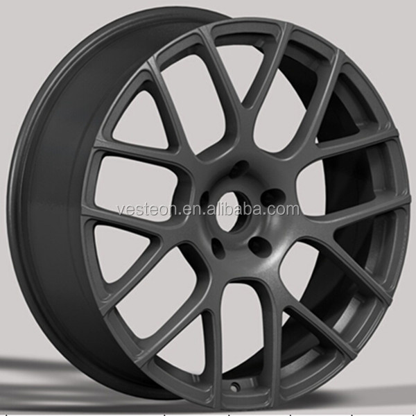 China vesteon 16x7 black wheels with chrome lip