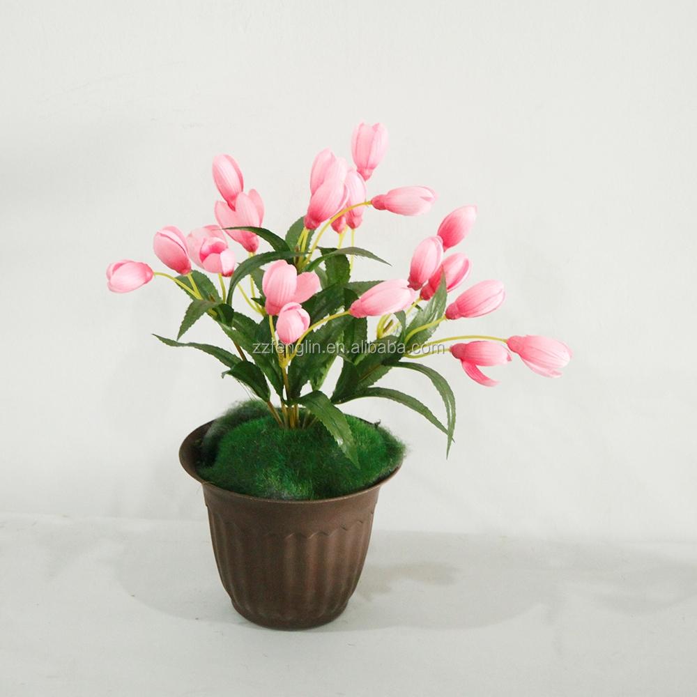 Pink China Silk Flower Artificial Winter Jasmine Flower Wedding