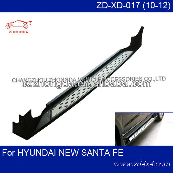 hyundai new santa fe side step(B-MW style),running board for hyundai new santafe,HYUNDAI NEW SANTA FE foot plate pedal plate