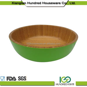 Healthy Cheap Price Custom decorative round olive wooden salad bowl