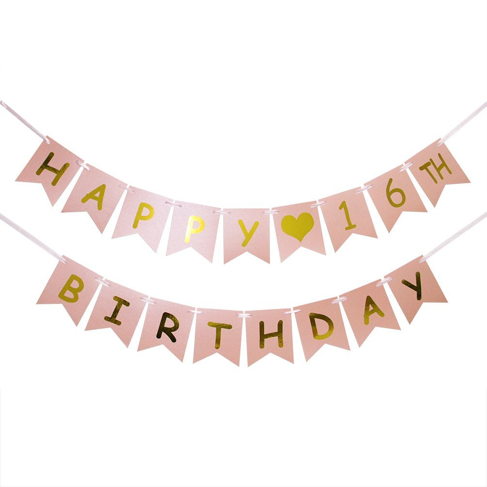 Get Quotations Happy 16th Birthday Banner