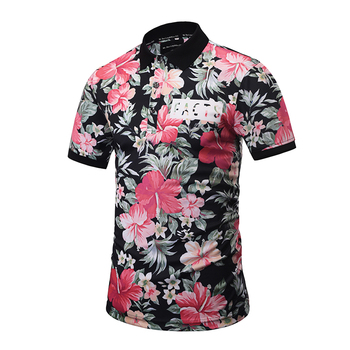 Cheap Uniform Blank Polo Shirts High Quality Color Combination Bulk Sublimated Custom Shirt Flower Print
