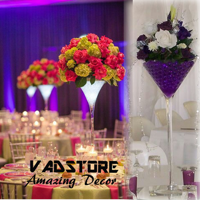 Wholesale Martini Glass Vases Centerpieces Suppliers And Manufacturers At Alibaba