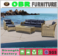 Luxury wicker sofa plastic garden patio furniture