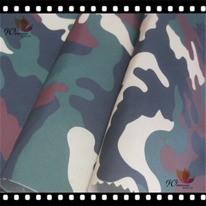Back blue and red mixed camouflage print taffeta 210T fabric