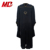 Premium dull finished fabric Deluxe Black Doctoral Academic Gowns academic regalia