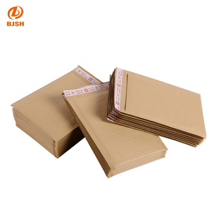 Factory Wholesale Printed A4/A5 Size Adhesive Brown Paper Bag/ Padded Kraft Bubble Envelope