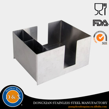 High quality customized stainless steel napkin holder bar caddy