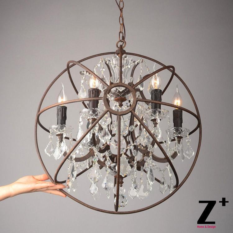 replica item american style vintage lustre light foucaults orb clear crystal chandelier loft. Black Bedroom Furniture Sets. Home Design Ideas