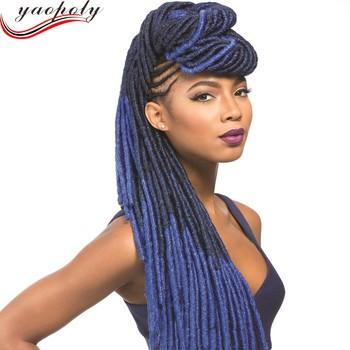 Synthetic Soft Dreadlock Braid Hair Long Curly Crochet Braid Hair