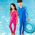 Kids Long Sleeve Swimwear One Piece Swimsuit Anti UV YKK Zipper Girls Bathing Suit Beach Wear