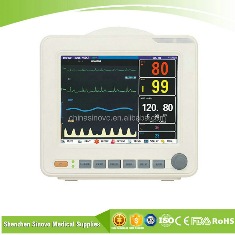 PM-1 Manufacturer supply 12.1 inch hospital icu multiparameter patient monitor