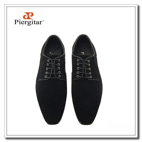 Formal Men Velvet Black Lace Shoes Up 1xzRqRn67