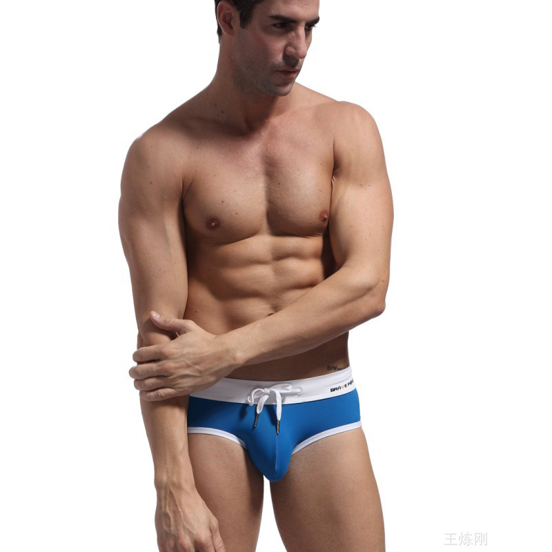 fa2f5bedf Get Quotations · Sexy fashion tight elastic swimming wear men,male swim  trunks,low waist mens swimwear