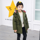 high quality wholesale windproof hooded kids down coat cartoon shark winter clothes