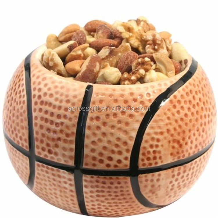 Hot Sale Personalized Handmade Color Glazed Decorative basketball bowl