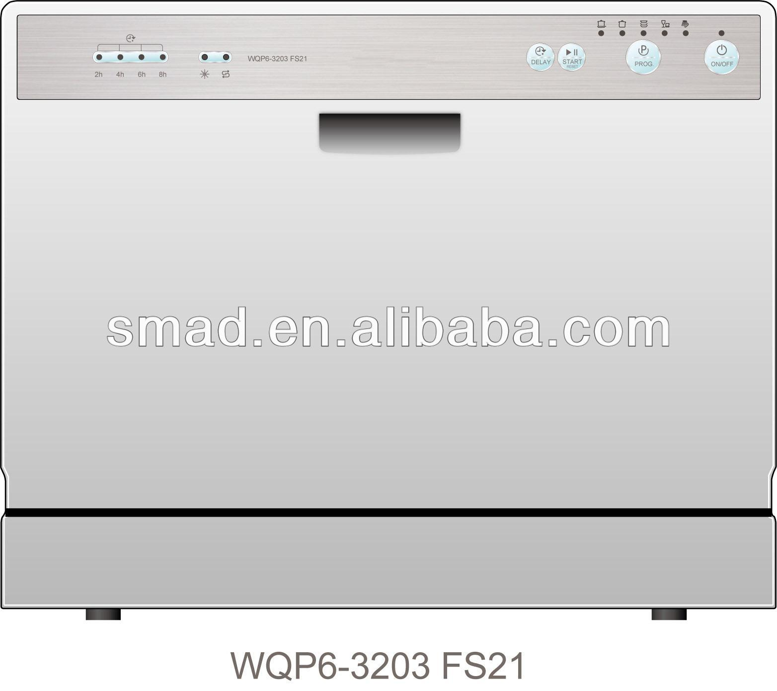 6 settings automatic tabletop/built-in dishwasher with CE/SAA/GS/EMC