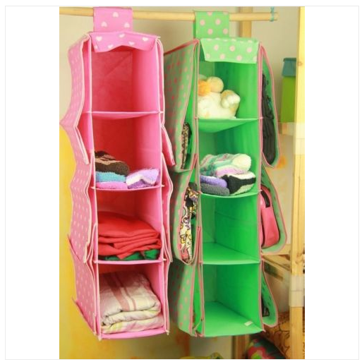 Cute 10 Pockets Wardrobe Hanging Handbags Clothes Holder Rack Organiser Storage
