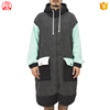 2017 Hot selling 100 microfiber fabric adult lovers hooded beach change robe surf poncho towel