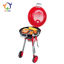 best selling kid funny light BBQ big kitchen set toy with food material