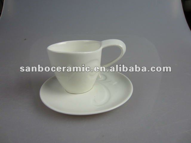 2012 popular white porcelain tea set
