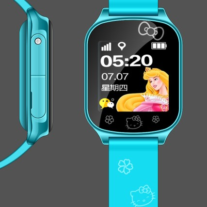 kids cell phone gps tracking T58 Blue cute supports SIM card