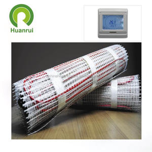 Twin conductor electric marble floor heating mat