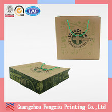 China Factory OEM Production Reusable Kraft Paper Shopping Bag
