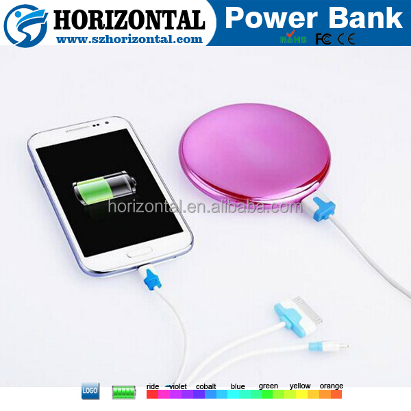 Hot selling charge station power bank mirror 6000mah ,mirror charger plates ,portable universal power bank for samrtphone