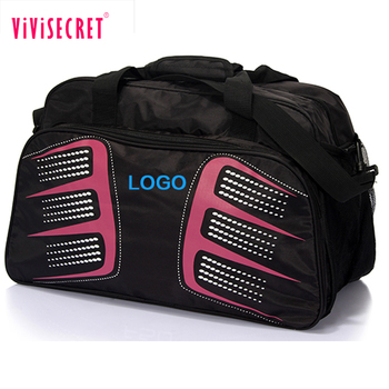 512174744f Customized big nylon active sport training bag black athletic sports gym bag  for men