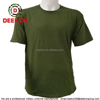 Factory price soldiers t shirt green in army military grade