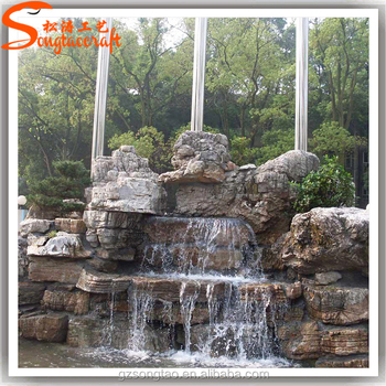 Garden And Home Stone Wall Water Fountains Waterfalls Artificial Fibergl Rock Fountain