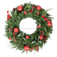 Artificial Christmas Wreath for front door