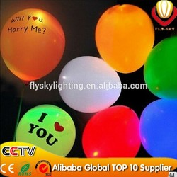 lowest price led balloon light,LED light neon balloon new innovation party decoration on China market