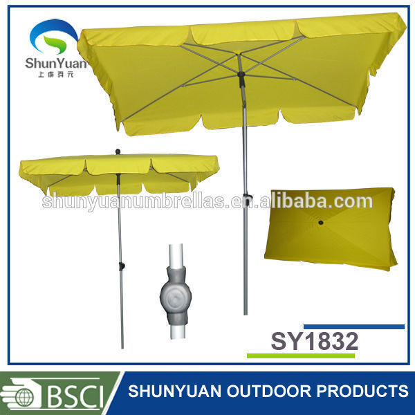 garden 4 rib market forest uv protection rectangular beach umbrella - Garden Furniture 4 U