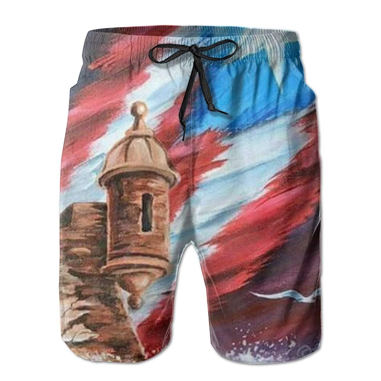 9fb4816c37 Get Quotations · Flag of Puerto Rico Mens Boardshorts Swim Trunks Men Swim  Board Shorts Swimming Trunks