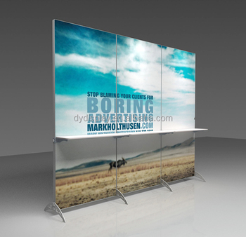 Trade Display Stands : Aluminum booth trade show exhibition poster display banner stand