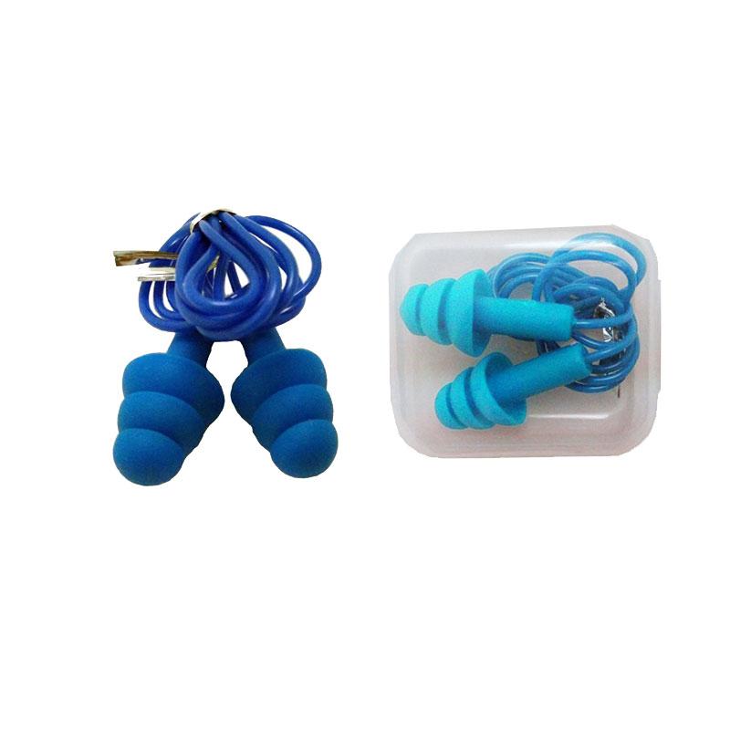 Swimming selective hearing durable silicone earplugs noise cancelling reusable sleeping earplugs