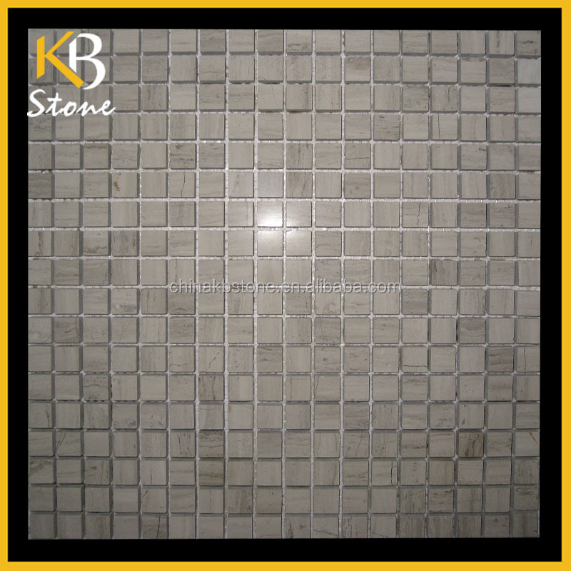 Piazza mosaico di marmo grigio di legno scuro bagno e - Piastrelle tipo mosaico ...