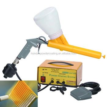 Manual Portable Powder Coating System Electrostatic Paint Spray Gun