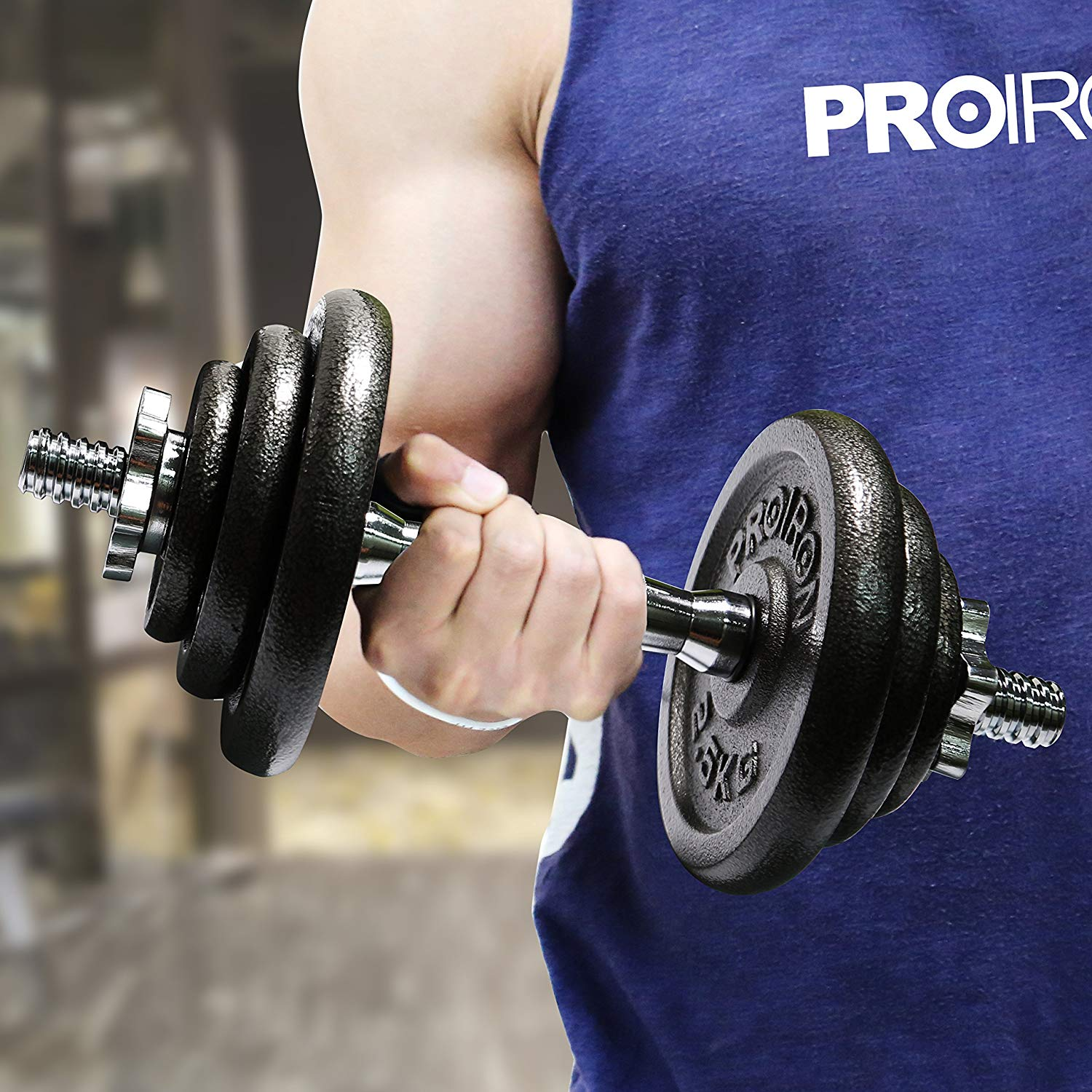 PROIRON 20kg Cast Iron Adjustable Dumbbell Set
