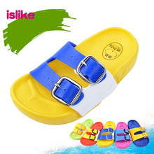 Free shipping 2016 New Summer Baby Boys Girls Sandals Soft Clogs Breathable Shoes Belt Buckle Children