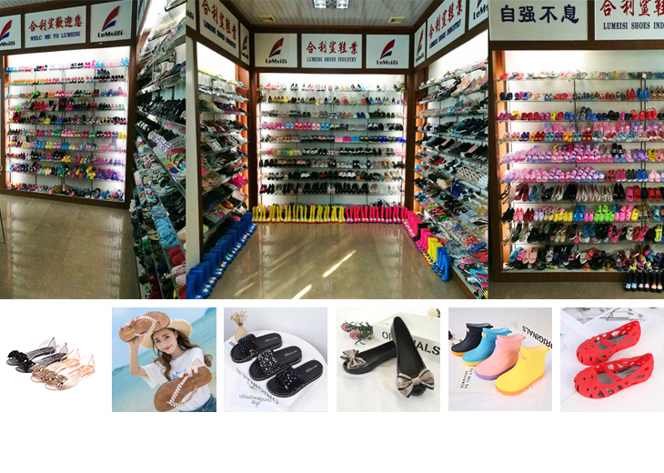Mini Helisha wholesale pvc injection lady flat sandals hot sale butterflies upper jelly shoes for women and ladies