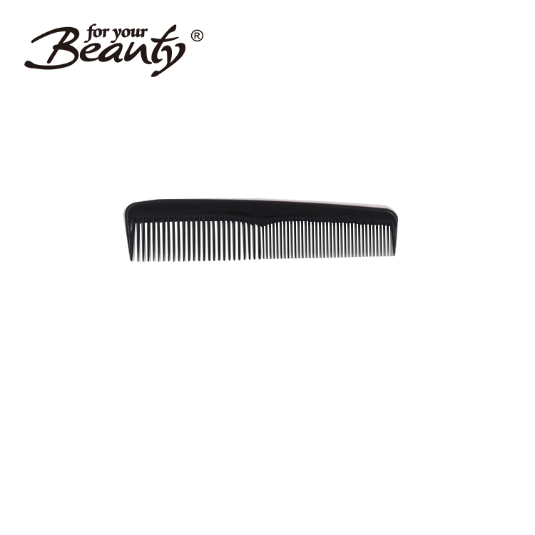 Gloss black 5 inch fine tooth sew in small plastic hair comb