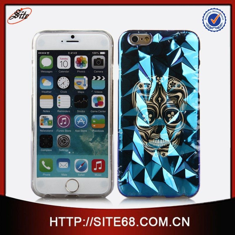 New design blue light IMD mobile phone gel tpu case for iphone 6